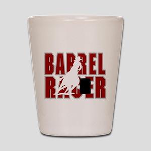 BARREL RACER [maroon] Shot Glass